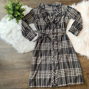 Banana Republic button down plaid dress
